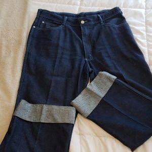 Vintage Wide Leg Jeans - Waist 38
